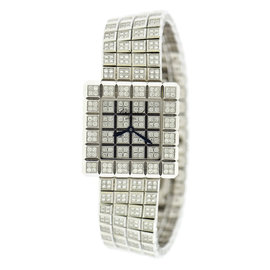 Chopard 10/6815-20 Ice Cube Diamond 18K White Gold 25mm Womens Watch