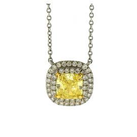 Tiffany & Co. Platinum 1.21ct Diamond Pendant Necklace