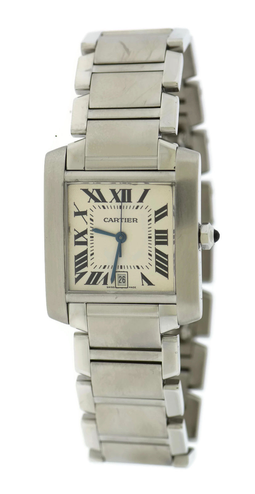 "Image of ""Cartier Tank Large 2302 Stainless Steel 28mm Mens Watch"""