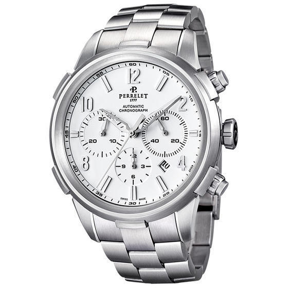 "Image of ""Perrelet Class-T A1069/a Stainless Steel Automatic 44mm Mens Watch"""