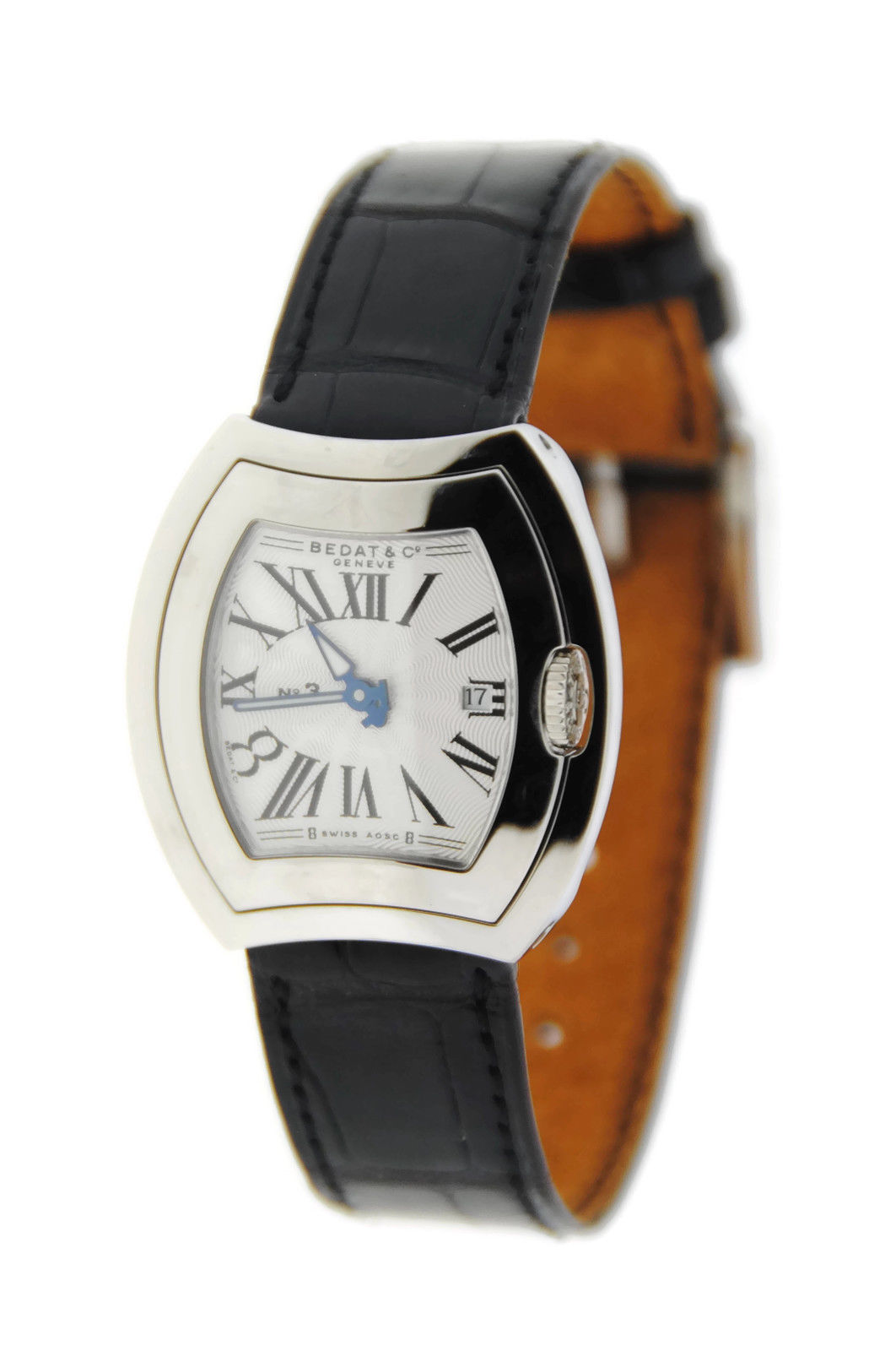 "Image of ""Bedat & Co. 334.010.101 No.3 Stainless Steel & Leather Quartz 31mm"""