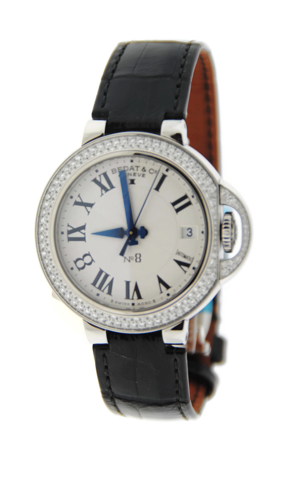 "Image of ""Bedat & Co. 828.040.600 No.8 Stainless Steel & Leather Diamond"""