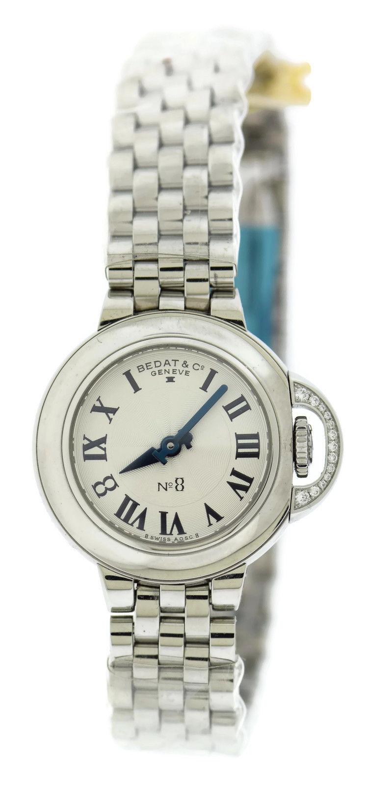 "Image of ""Bedat & Co. 827.021.600 No. 8 Stainless Steel Diamond 31mm Womens"""