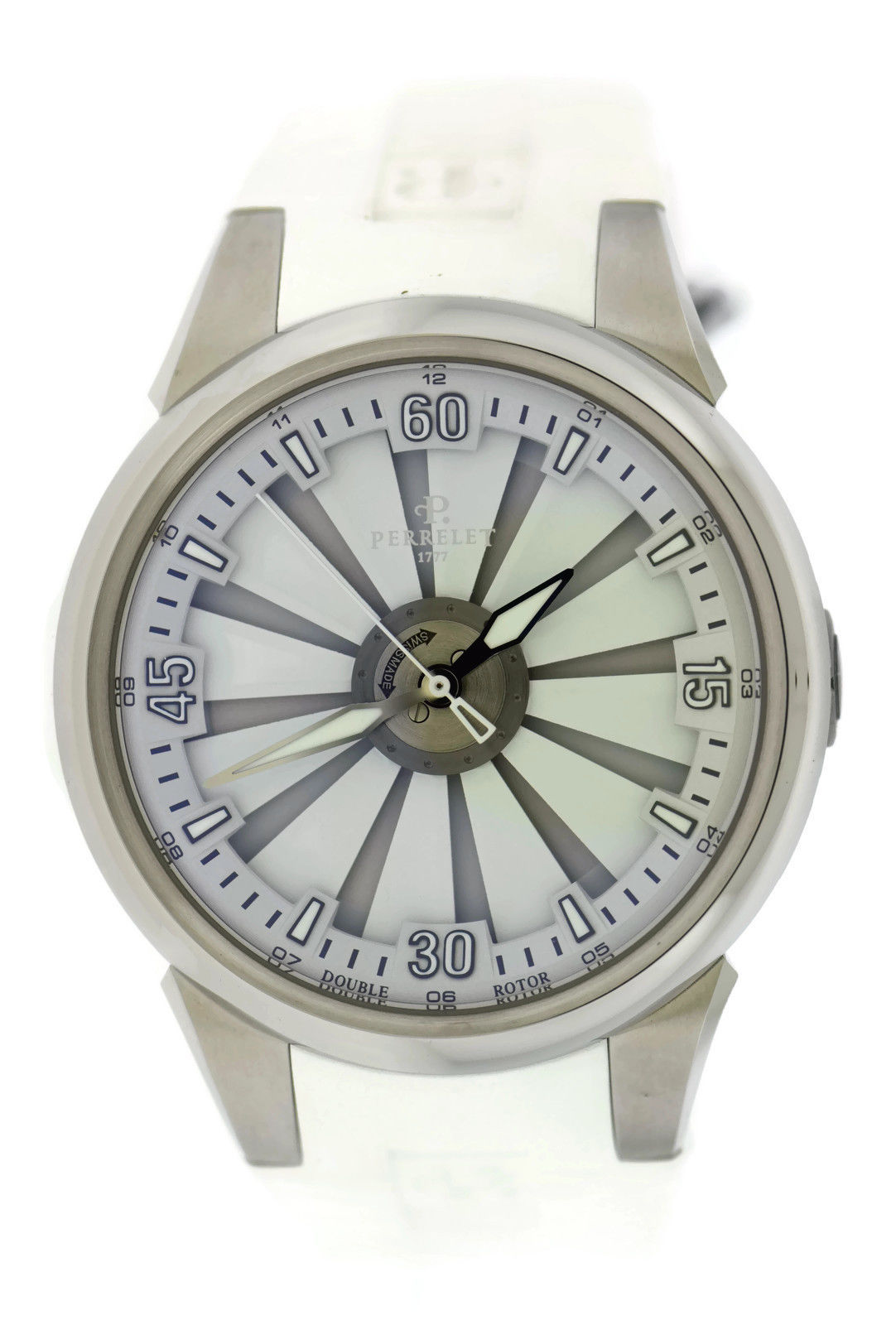 """Image of """"Perrelet Turbine A1064/6 Stainless Steel & Rubber Automatic 44mm Mens"""""""