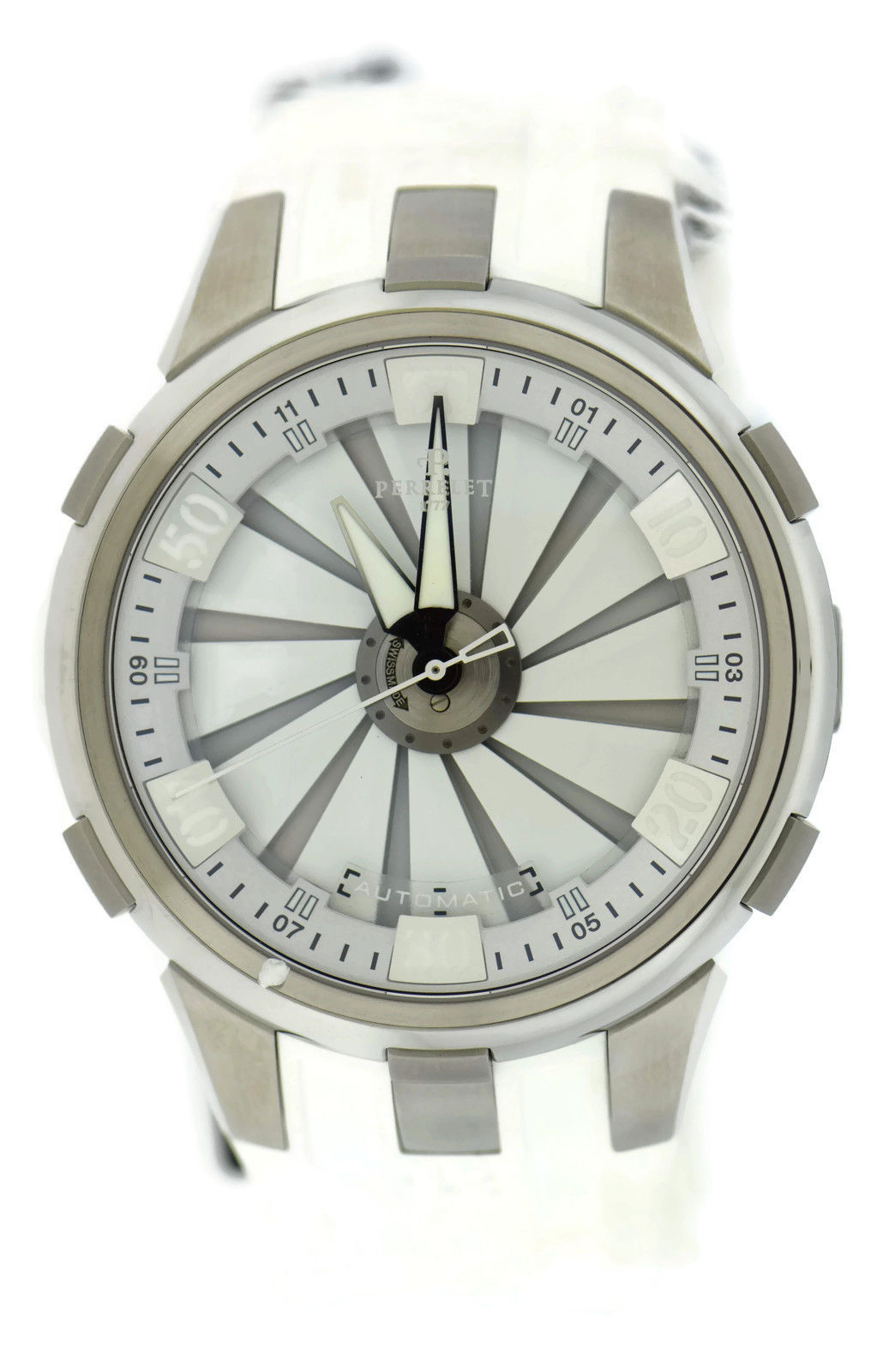 """Image of """"Perrelet Turbine A1065/1 Stainless Steel & Rubber Automatic 48mm Mens"""""""