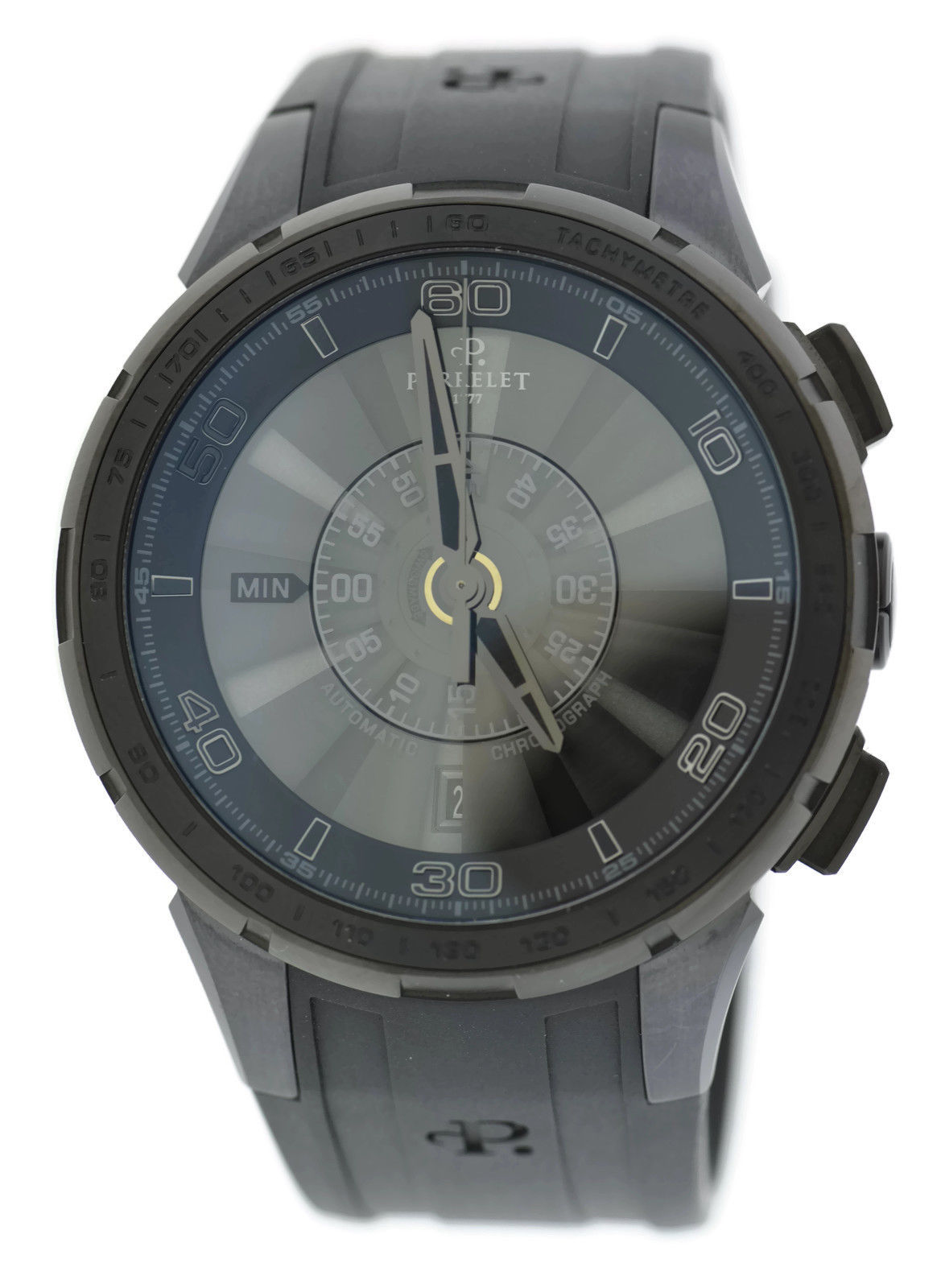 """Image of """"Perrelet Turbine A1079/1 Stainless Steel & Rubber Automatic 47mm Mens"""""""