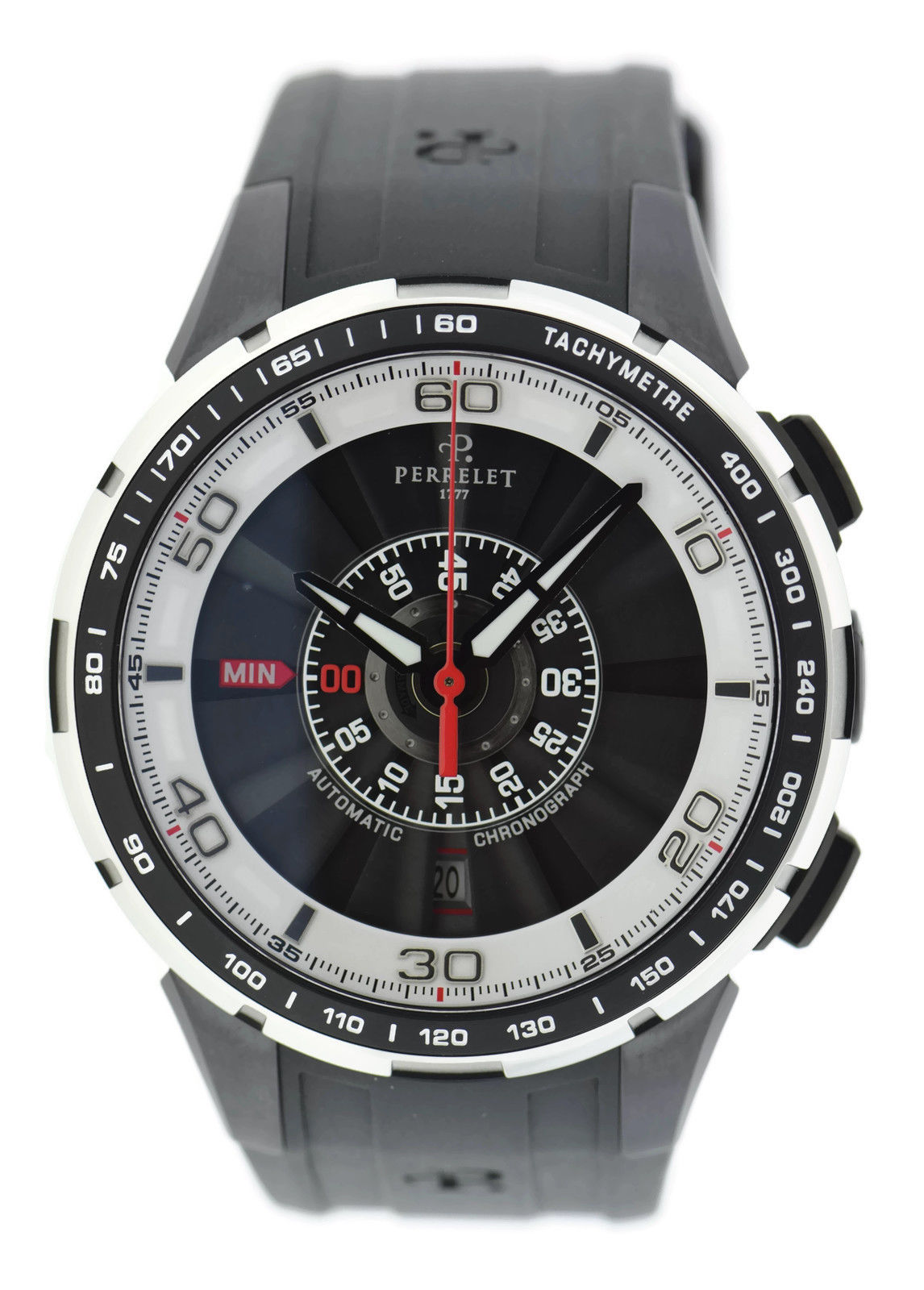 """Image of """"Perrelet Turbine A1075/1 Stainless Steel & Rubber Automatic 48mm Mens"""""""