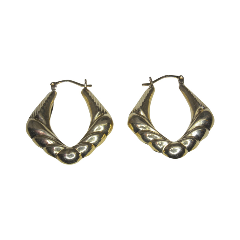 "Image of ""14K Yellow Gold Hoop Earrings"""