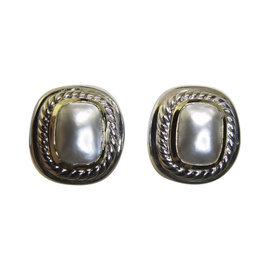 David Yurman 14K Yellow Gold & 925 Sterling Silver Mother Of Pearl Albion Clip Earrings