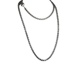 David Yurman 925 Sterling Silver & 14K Yellow Gold Box Chain Necklace