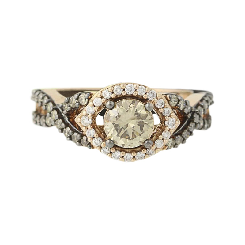"Image of ""Le Vian 14K Rose Gold 1.20ct. Diamond Halo Ring Size 7"""