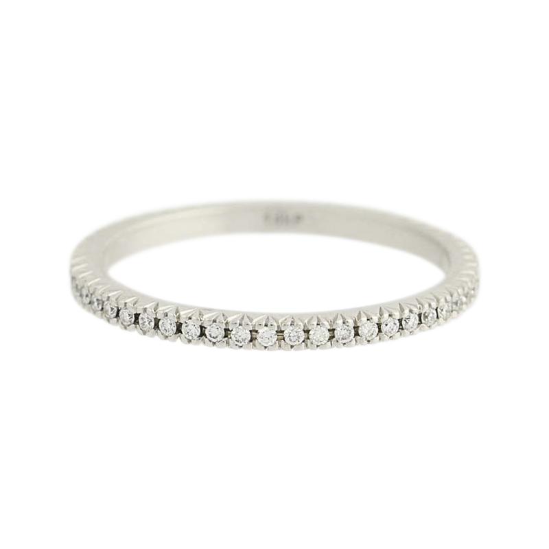 "Image of ""Scott Kay 14K White Gold & 0.25ct Diamond Wedding Band Ring Size 6.5"""