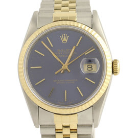 Rolex Oyster Perpetual Datejust 16233 Stainless Steel & 18K Yellow Gold 36mm Mens Watch