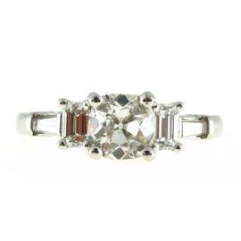 Peter Suchy Platinum & Diamond Ring Size 6.75