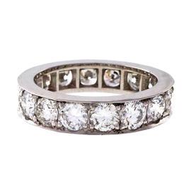 Peter Suchy Platinum 3.38ct Diamonds Bead Set Band Ring Size 6.5