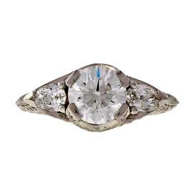 Peter Suchy Platinum Diamond Ring Size 6