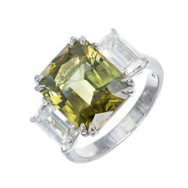 Peter Suchy Platinum Alexandrite Diamond Ring Size 6.75