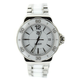 Tag Heuer Formula One F1 WAH1211 Ceramic/Stainless Steel White Dial Quartz 37mm Womens Watch