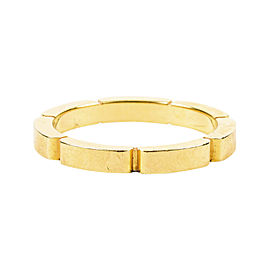 Cartier Maillon Panthere 18K Yellow Gold Wedding Bang Ring Size 5.75