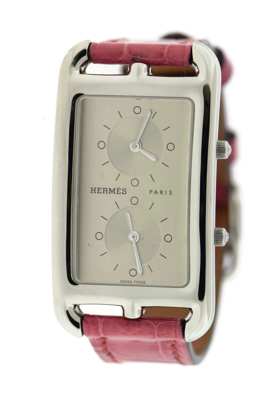 """Image of """"Hermes Cape Cod Cc3.510 Stainless Steel & Leather Quartz 25.5mm"""""""