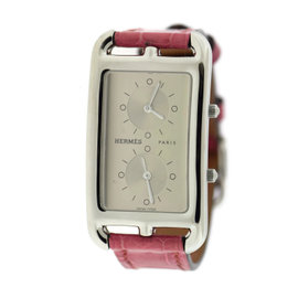 Hermes Cape Cod CC3.510 Stainless Steel & Leather Quartz 25.5mm Womens Watch