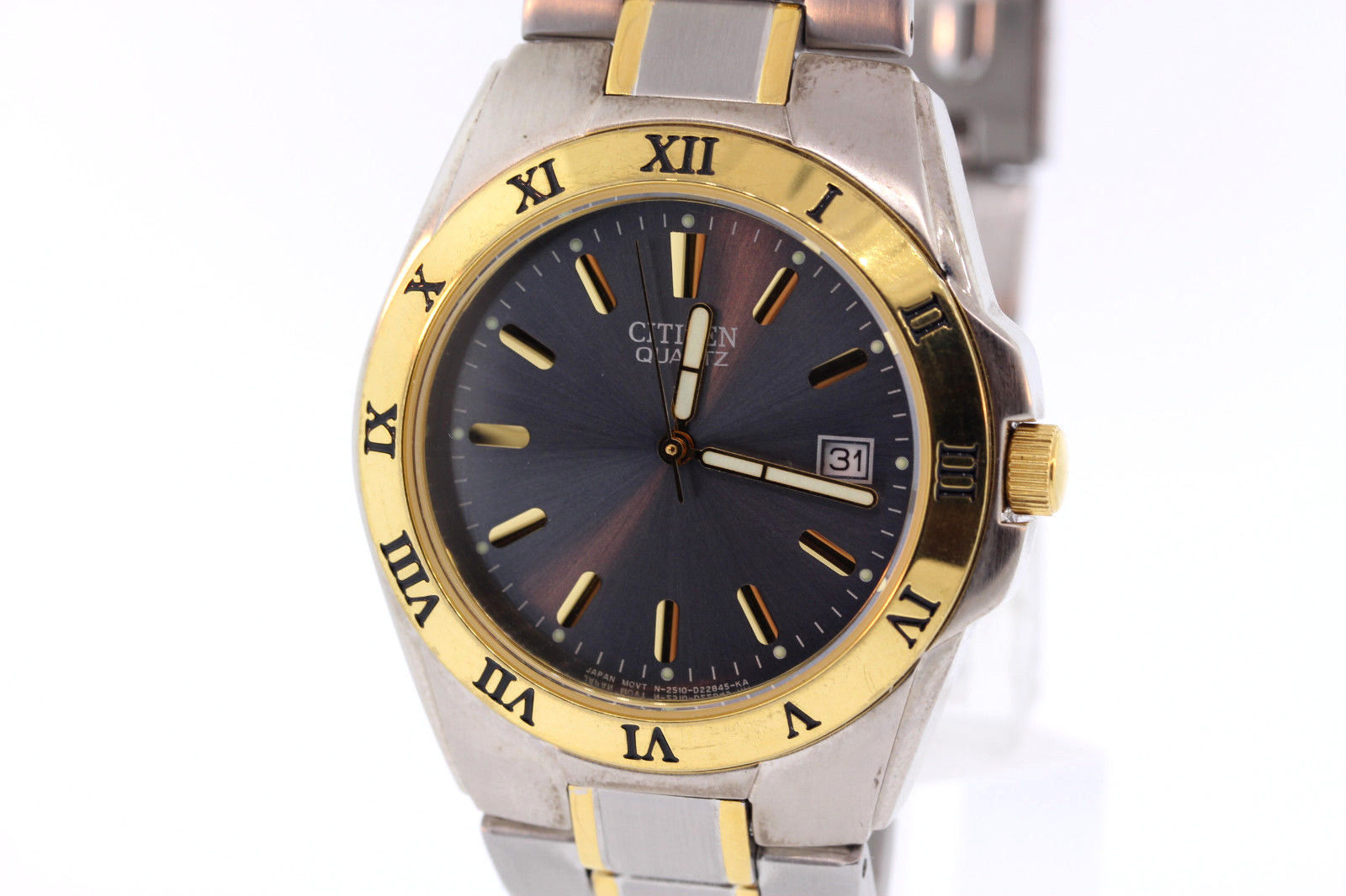 "Image of ""Citizen 2510-S599353 Stainless Steel with Gold Accents Black Dial"""