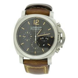 Panerai Luminor Daylight PAM356 Stainless Steel & Leather 44mm Mens Watch