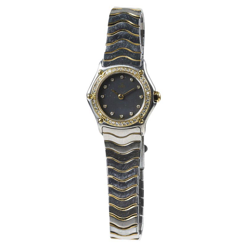 "Image of ""Ebel Classic Wave Stainless Steel 18k Yellow Gold 23mm Womens Watch"""