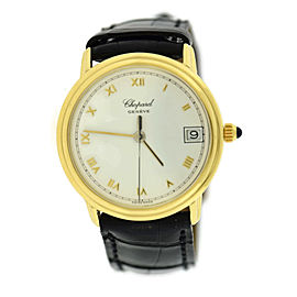 Chopard Linea D'Oro 1169 18K Yellow Gold & Leather Manual 32mm Womens Watch