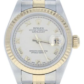 Rolex Oyster Perpetual Datejust 79173 Stainless Steel & 18K Yellow Gold 25.5mm Womens Watch