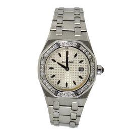 Audemars Piguet Royal Oak 67621ST.ZZ.1230ST.0 Stainless Steel with Diamond Quartz 33mm Womens Watch