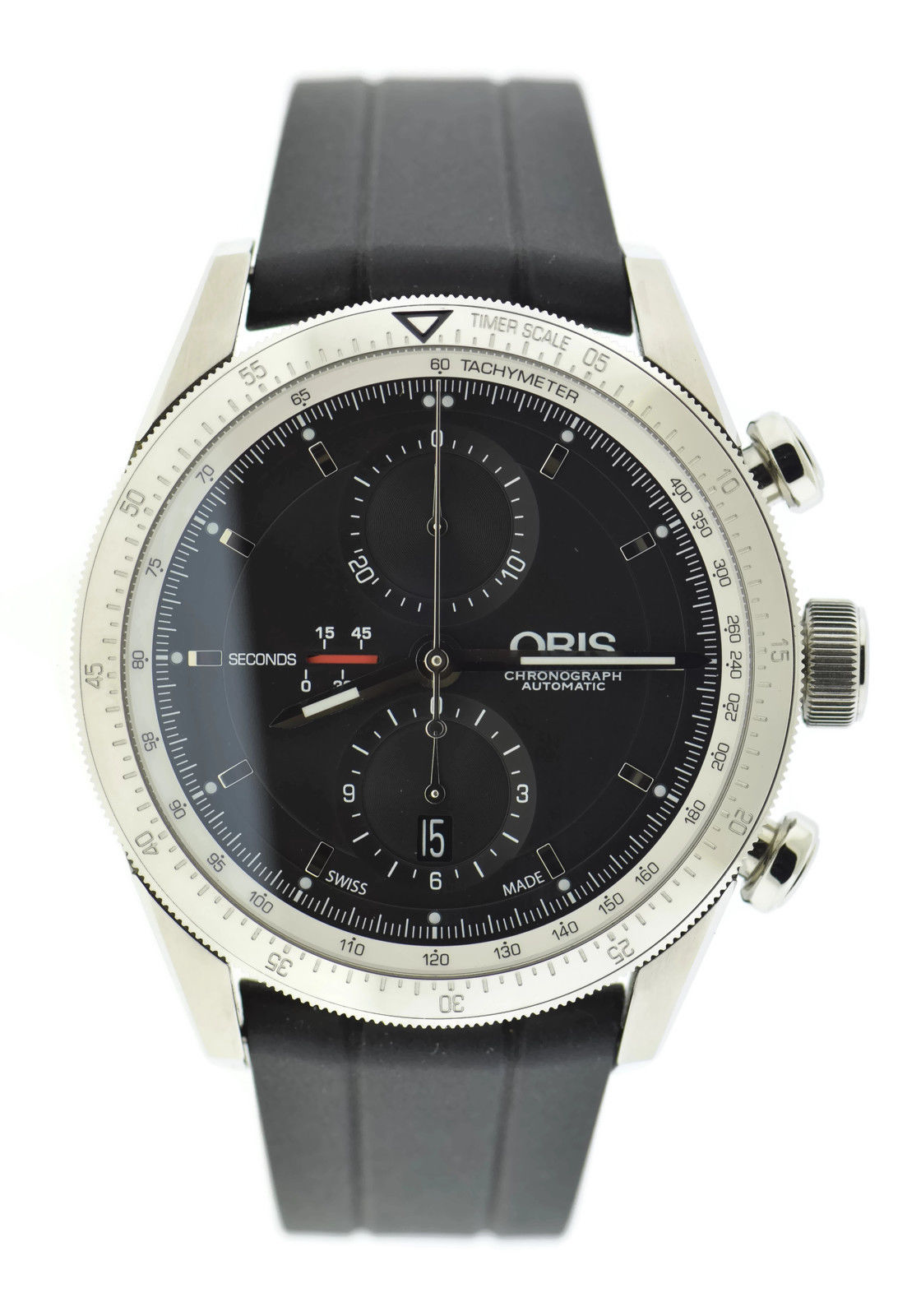 """Image of """"Oris Artix GT Chronograph 7661 Stainless Steel & Rubber Automatic 44mm"""""""