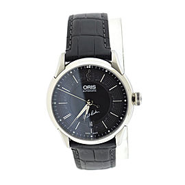 Oris Chet Baker 7591 Stainless Steel & Leather Automatic 40mm Mens Watch