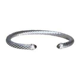 David Yurman 925 Sterling Silver Smoky Quartz Diamond Bracelet