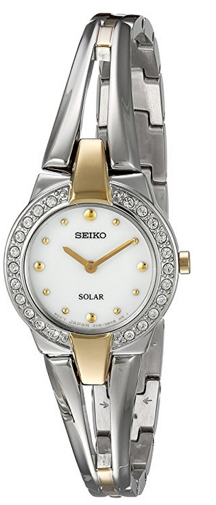 "Image of ""Seiko Sup206 Yellow Gold Tone & Stainless Steel with Crystal Quartz"""