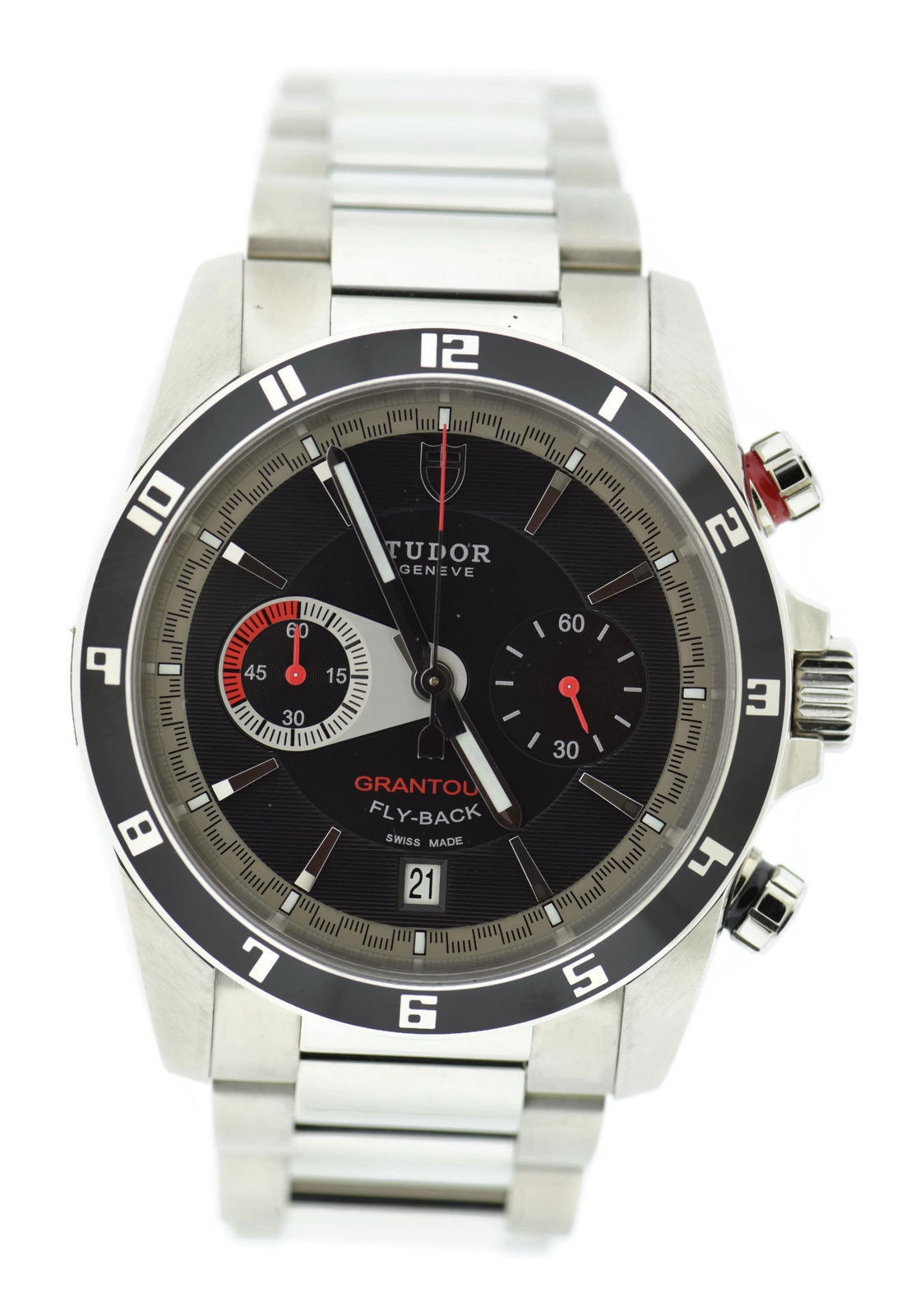 "Image of ""Tudor Grantour 20550N Stainless Steel Black Dial Automatic 42mm Mens"""