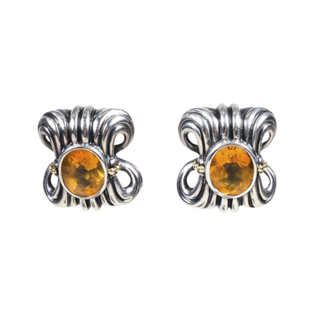 """Image of """"Lagos 925 Sterling Silver and 18K Yellow Gold with Citrine Clip On"""""""