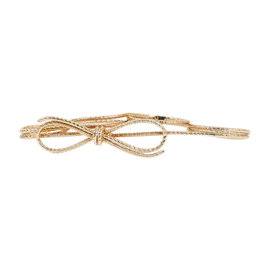 Christian Dior Rose Gold Tone Hardware Wire Bow