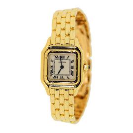 Cartier Panthere WGPN0008 18K Yellow Gold Quartz 22mm Womens Watch