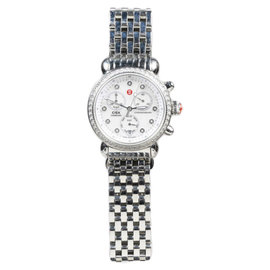 Michele CSX MW03M01A1046 Stainless Steel and Mother of Pearl Diamond Dial Womens Watch