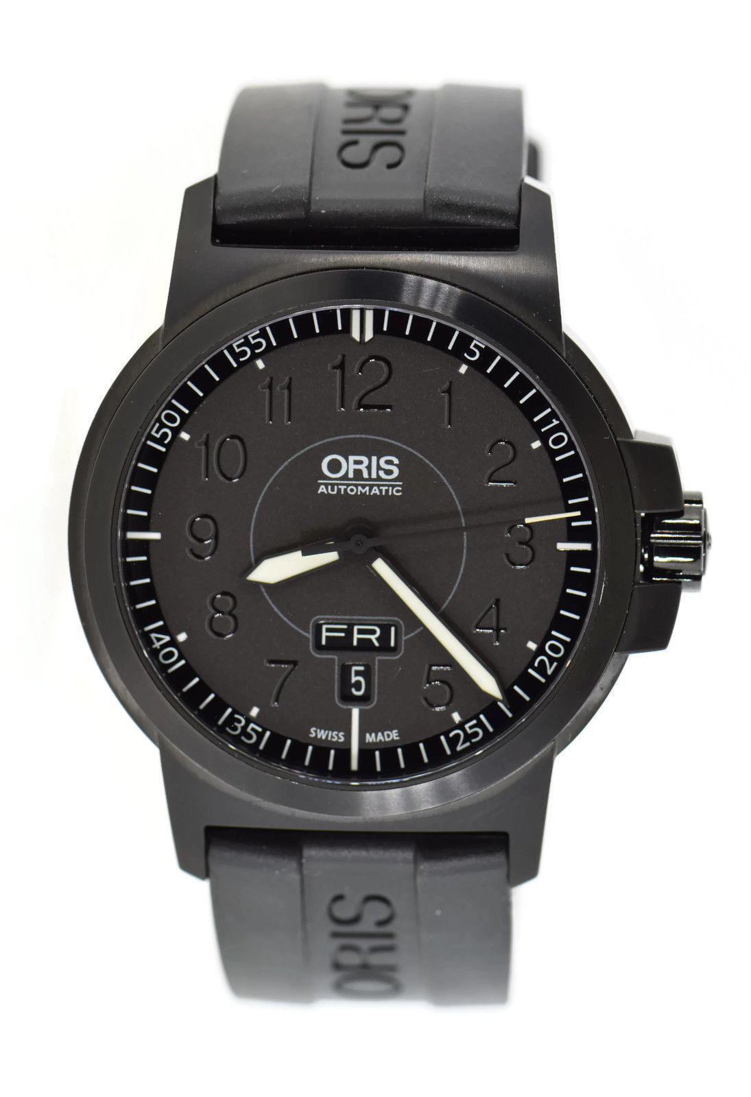 "Image of ""Oris 7641 Black Stainless Steel 42mm Mens Watch"""