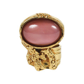 Yves Saint Laurent Gold Plated & Pink Crystal