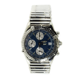 Breitling Chronomat A13050.1 Stainless Steel Blue Dial Automatic 40mm Mens Watch