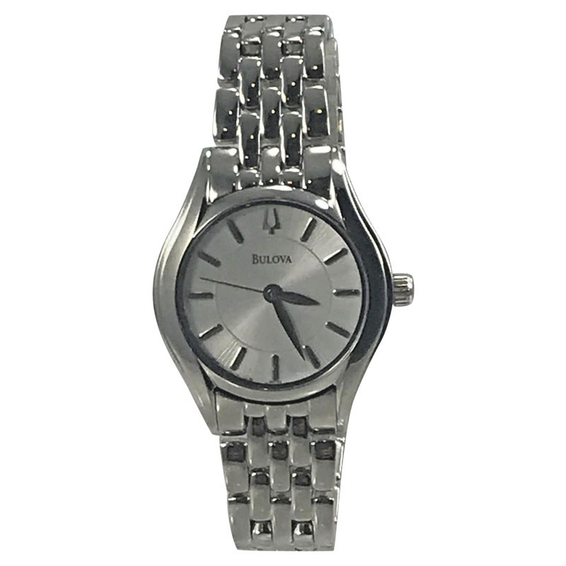 "Image of ""Bulova 96L132 Stainless Steel White Dial 28mm Womens Watch"""