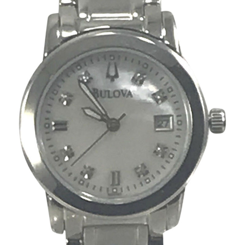 """Image of """"Bulova 96P107 Stainless Steel Mother of Pearl Dial 26mm Womens Watch"""""""