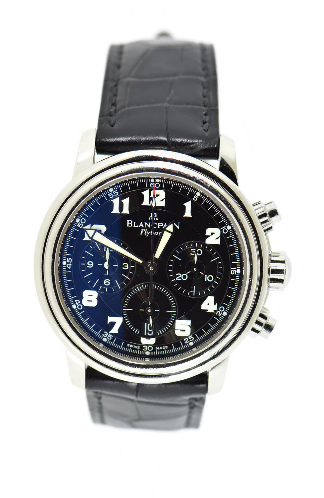 """Image of """"Blancpain Leman Flyback 2185F Stainless Steel & Leather Automatic 38mm"""""""