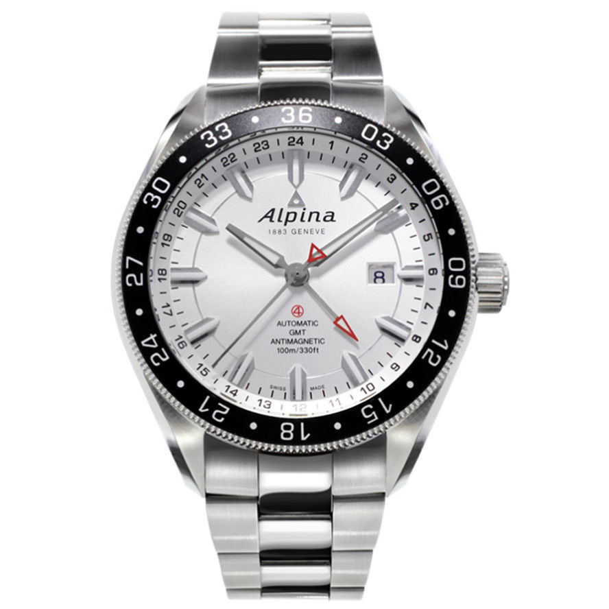 "Image of ""Alpina Al-550S5Aq6B Stainless Steel Automatic 44mm Mens Watch"""