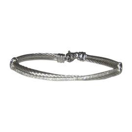 David Yurman Crossover 925 Sterling Silver with Diamond Bracelet