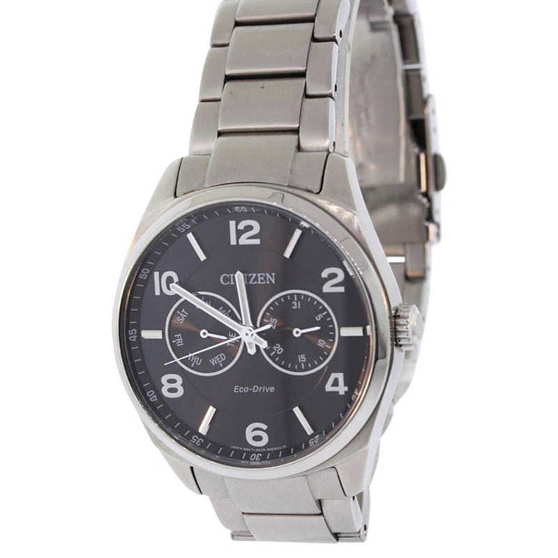 "Image of ""Citizen Ao9020-84E Stainless Steel & Black Dial 43mm Mens Watch"""
