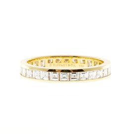 Tiffany & Co. 18K Yellow Gold & 1.70ct Diamond Eternity Band Ring Size 8